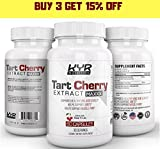 KYR Tart Cherry Extract Capsules with Celery Seed-Flush Excess Uric Acid Providing Joint Comfort, Healthy Sleep and Muscle Recovery -Our Most Effective polyphenols Supplement ever-60 Veg Cap (3 Pack)