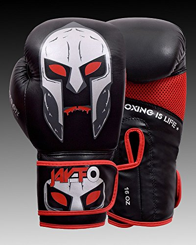 - Jayefo Gladiator Gear Boxing Gloves Gel Sparring Glove Punching Bag Mitts Training Muay Thai kick boxing MMA (Black, 16 OZ)