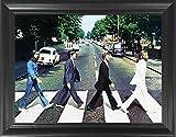 beatles art framed - The Beatles Abbey Road Framed 3D Lenticular Poster - 14.5x18.5
