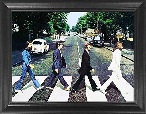The Beatles Abbey Road Framed 3D Lenticular Poster - 14.5x18.5