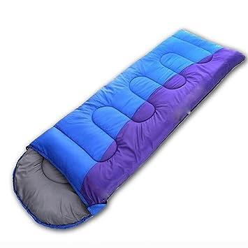 MIAO Adultos al aire libre Camping grueso otoño e invierno sobres viajes sacos de dormir se puede empalmar doble personas sacos?