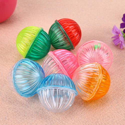 outlet Embiofuels(TM) Cat Products 10Pcs Plastic Hollow Pet Cat Toys With Bells Chew Ball Toys for Cat Kitten Funny Interactive Training Toy