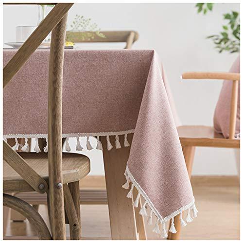 Tablecloth Petit tissu rose frais de coton et de lin de tissu de Tableau de tissu de couverture de TV de table basse (Taille   160X160CM)
