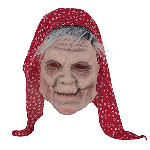 Bristol Novelty BM524 Old Lady Mask with Head Scarf, One Size