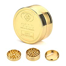 icxox Gold Collector's Edition Grinder - 3 Pieces 2 Inches (50mm)