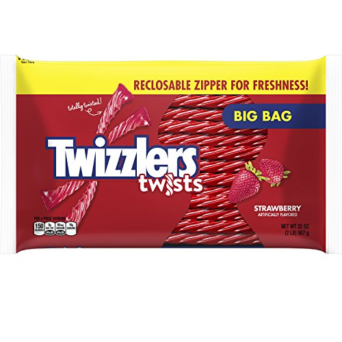 TWIZZLERS Strawberry Twists Licorice Candy, 32 Ounce -