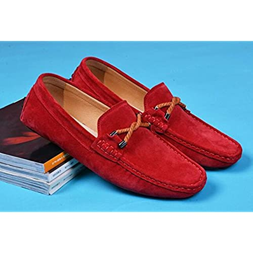 7490848e355 Happyshop(TM) Suede Leather Casual Slip-on Loafers Moccasin Mens Driving  Shoe Business
