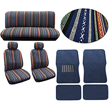 Baja Blue 12pc Car Seat Cover Set