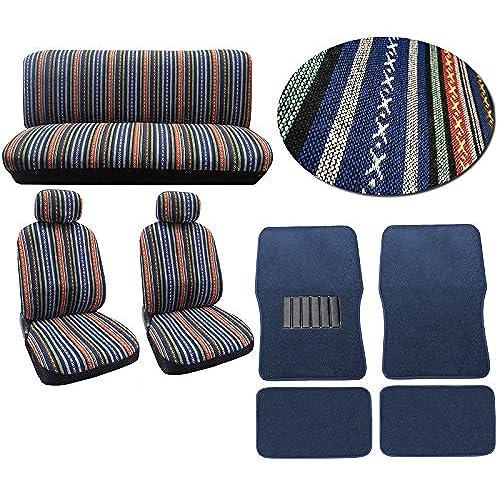 Baja Blue 12pc Car Seat Cover Set