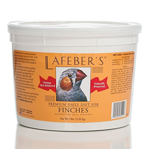 - LAFEBER'S Premium Daily Diet Pellets Pet Bird Food, Made with Non-GMO and Human-Grade Ingredients, for Finches, 5 lb