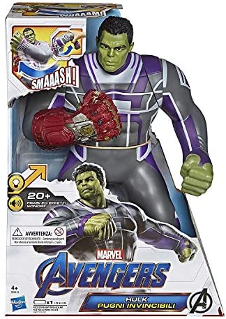 Hasbro Marvel Avengers – Endgame Hulk Invincible Fists, Electronic Action Figure with 20 Sounds and Phrases [English Version]