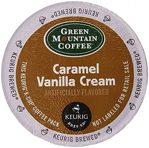 Keurig, Green Mountain Coffee, Caramel Vanilla Cream, K-Cup Counts, 50 Count - Caffeine Free Coffee
