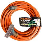 Century Contractor Grade 50  10 Gauge Power Extension Cord 10/3 Triple Tap Plug