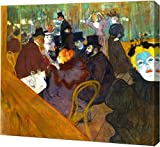 "This 19"" x 19"" premium gallery wrapped canvas print of At the Moulin Rouge by Henri De Toulouse-Lautrec is meticulously created on artist grade canvas utilizing ultra-precision print technology and fade-resistant archival inks. This magnificent canva..."