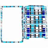 Galaxy Note 1 i717, For Samsung Galaxy Note SGH-i717, Fitted Case/Skin New Hard Rigid Plastic, (Transparent Blue White) Cover Case, For Samsung Galaxy Note i717, Plain/Patterned/Pictorial Design/Finish Snap Housing Faceplate Protector - TP1454-S accessori