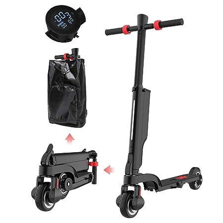 LSXX Scooter eléctrico portátil de 5,5 Pulgadas para Adultos ...