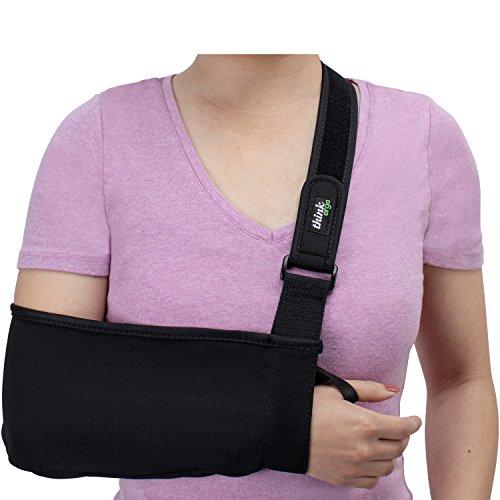 Think Ergo Arm Sling Sport - Lightweight, Breathable, Ergonomically Designed Medical Sling for Broken & Fractured Bones - Adjustable Arm, Shoulder & Rotator Cuff Support (Small/Youth)
