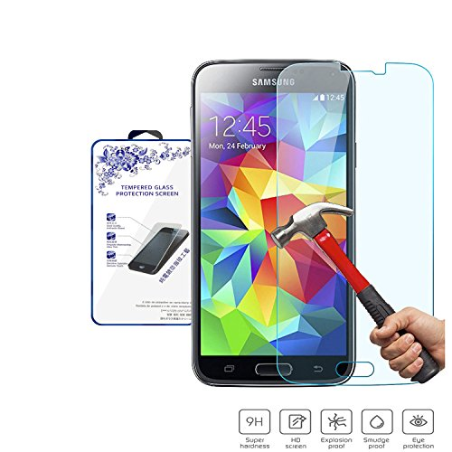 Tempered Glass Screen Protector Guard For Samsung Galaxy S5 SV - 6