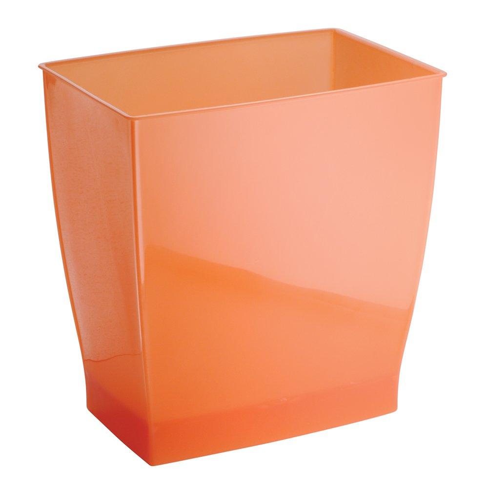 Interdesign mono wastebasket trash can for bathroom for Bathroom wastebasket