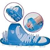 Wellness Badeschuh mit Bürste und Bimsstein - wohltuende Fußhygiene und Fußpflege in Einem (Wellness Schuh)