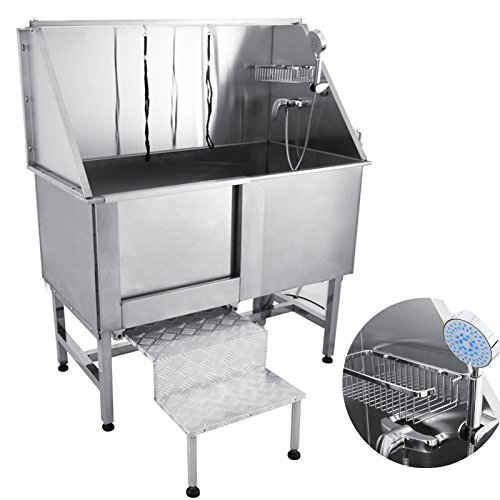 Mophorn 50' Professional Stainless Steel Pet Dog Grooming Tub Pet Bathing Large Pet Grooming Tub...