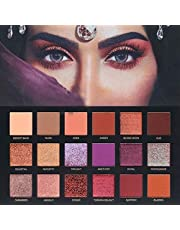 Alemin 18-color pearl matte integrated makeup eye shadow plate,Velvet Texture Blendable Long Lasting Eyeshadow Palette,Cosmetic Powder Eyeshadow Palette Makeup Set box for woman party appointment-2#