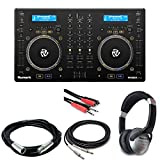 Numark MixDeck Express Premium DJ Controller with CD & USB Playback + Headphones + Stereo Interconnect Cable + Instrument & Mic Cable