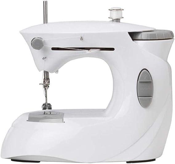 Máquina de coser portátil, Pequeña máquina de coser, la máquina de hogar mesa eléctrica portátil overlock costura, utilizado como piso, tela, tela de los niños for empezar la máquina de coser portátil: