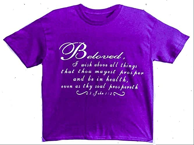 d4c6c43c397a Christian T-shirt for Women/Bible Verse Gift/Religious T-shirt for Women/ Religious Gift/Jesus Gift/Pastor Gift/Church Gift/Baptism Gift/(Beloved, ...
