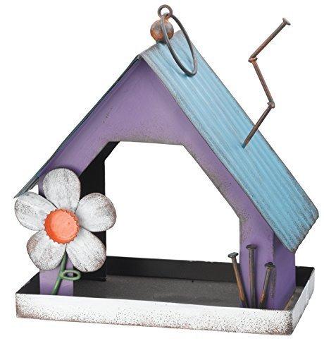 Regal Art and Gift Folk Bird Feeder, Purple by Regal Art & Gift