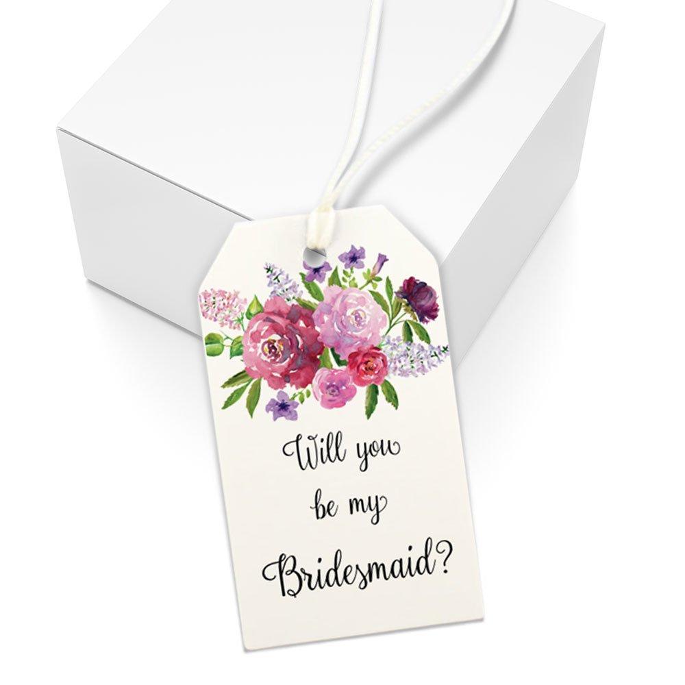 Will You Be My Bridesmaid Gift Tag, Bridesmaid Box, Wedding Party Proposal Gift, Set of Tags