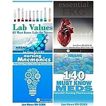 Nursing School Study Pack (Drug Reference, Labs, Mnemonics, EKG) 4 books for nursing students