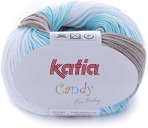 Katia Candy Fb 670 bebé lana algodón hilo de algodón con degradado ...