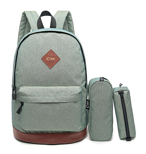 Price comparison product image CrossLandy High School Bookbag Girls Backpack Set 3 Pieces Fits 15.6 Inch Laptop