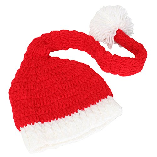 CestMall Unisex Handmade Knitting Winter Adults Santa Claus Knit Hat Beanies Cap with Mask for Christmas Party Gifts (Santa Beanie)