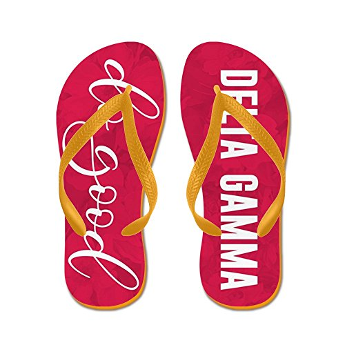 Cafepress Delta Gamma - Flip Flops, Grappige String Sandalen, Strand Sandalen Oranje