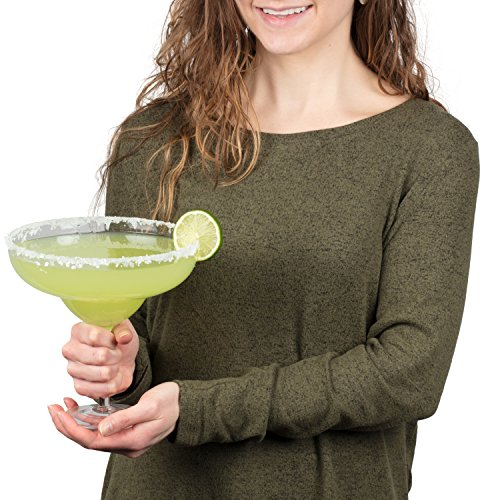 - Extra Large Giant Cinco De Mayo Margarita Glass - 34oz - Fits about 3 typical margaritas!