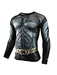 Moit Batman Compression Shirt Men Long Sleeve T Shirt