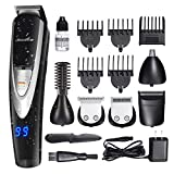 Migicshow Electric Cordless Beard Trimmer for men -12 in 1 Multi-functional Grooming Kit for Full size trimmer, Micro Shaver, Beard and Body trimmer, Waterproof USB Rechargeable with LED Display