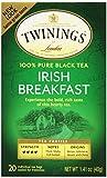 british breakfast black tea - Twinings of London Irish Breakfast Tea, 20 Count (Pack of 6)