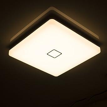 Öuesen 24W Wasserdichte LED Deckenleuchte Moderne ultradünne ...