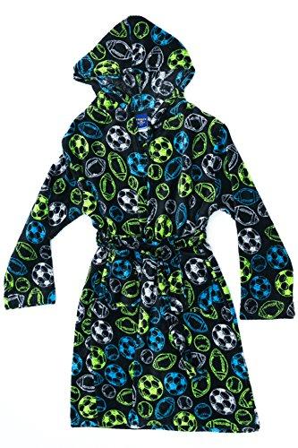 75508-7-8 Prince of Sleep Fleece Robe / Robes for Boys, Black Neon Sports
