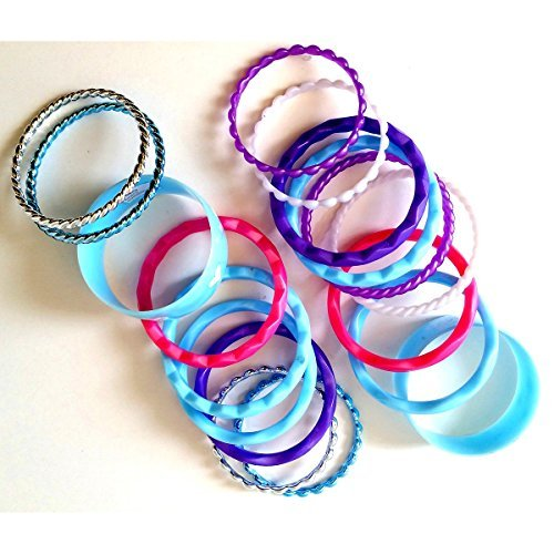 World Book Day Costumes Ideas For Girls (Ice Princess Lovely Bracelets 18 Pieces in Light Blue Color with Silver Accents (Assorted Sizes, Colors, Shapes & Styles For Everyday to Formal Wear))