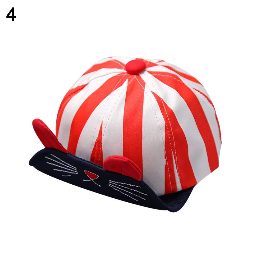 ink2055 Baby Boys Girls Kids Baseball Cap Breathable Cat Animals Ear Snapback Hat Gift