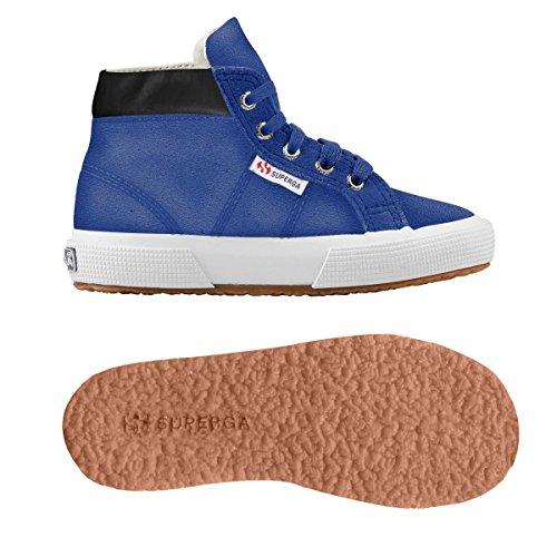 Superga 2204 - Suej - Zapatillas de cuero para niño Blue Royal Marine