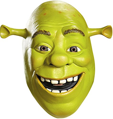 [Shrek Deluxe Latex Mask Adult One Size] (Deluxe Adult Shrek Costumes Mask)