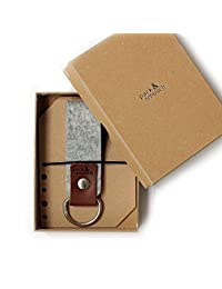 Pack & Smooch Keychain -SELBY- 100% Wool Felt, Pure Vegetable Tanned Leather - Handmade in Germany
