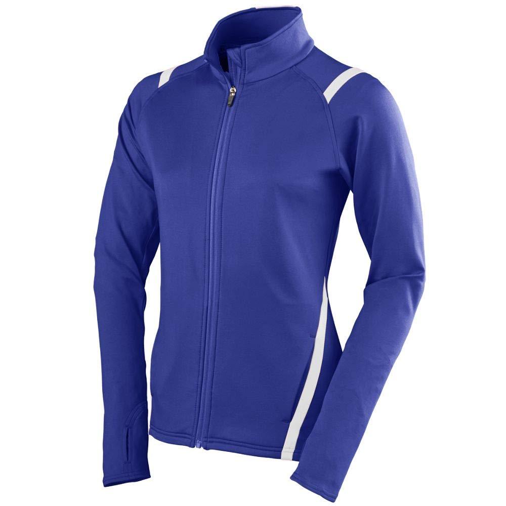Augusta Sportswear Girls Freedom Jacket, Medium, Purple/White by Augusta Sportswear