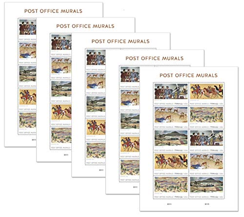 Post Office Murals Forever Stamps 2019 Release (5 Sheets of 10)