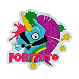 #9: Fortnite Unicorn Embroidered Sew on Patch for Kids Womens Mens Caps, Bags, Clothing Etc. - 1 Pack